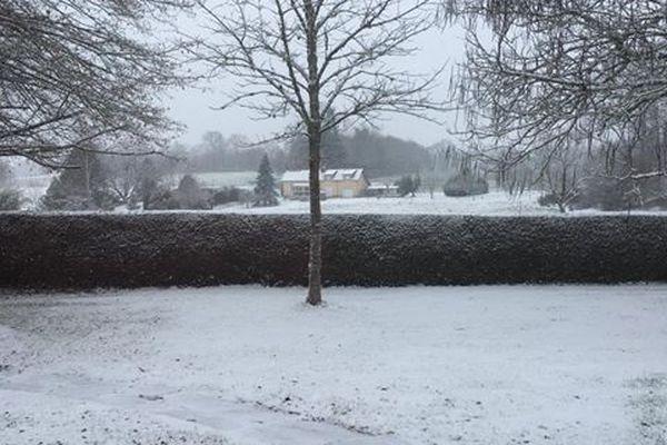 Neige au Chalard en Haute-Vienne le 22.01.2019