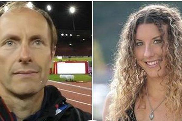 Jean-Michel Serra, médecin de l'Equipe de France d'athlétisme et Ophélie Claude-Boxberger