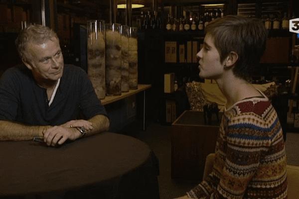 Lucie, collégienne bas-normande, a pu interviewer, avec l'équipe de LOCB, l'humoriste Franck Dubosc