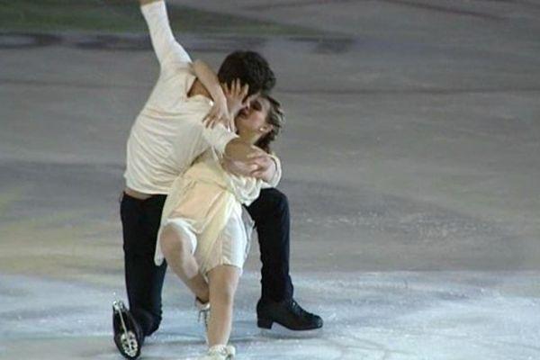 Guillaume Cizeron et Gabriella Papadakis, champions du monde de danse.