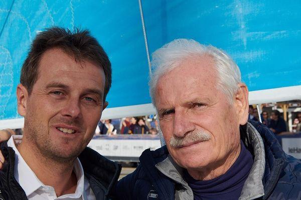 Yann Arthus-Bertrand a baptisé le Time for Oceans samedi, la veille du départ.