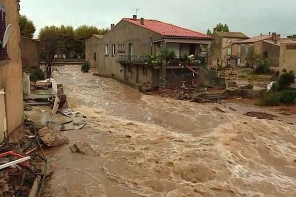 Trèbes (Aude) - les inondations endeuillent la commune - octobre 2018.