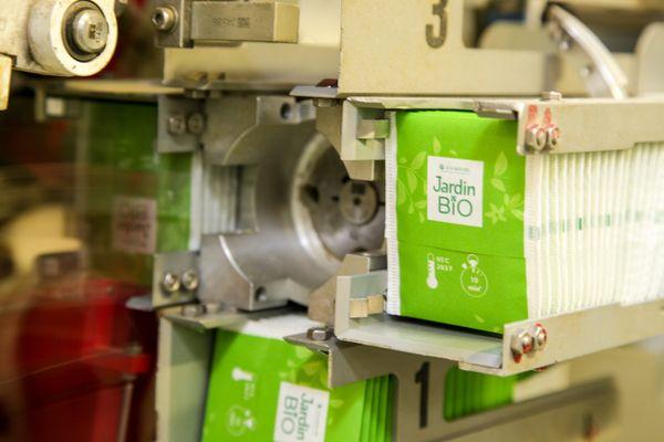 Plus de la moitiè de la production de Biolopam est destinée aux lignes de conditionnement de Léa Nature.
