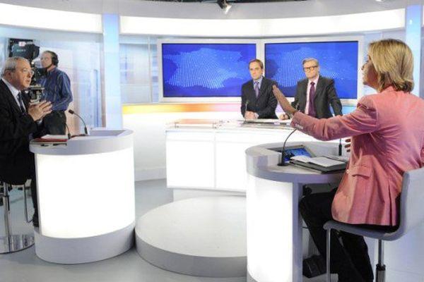 Jean-Paul Huchon et Valérie Pécresse en débat sur France 3 Ile-de-France en 2010