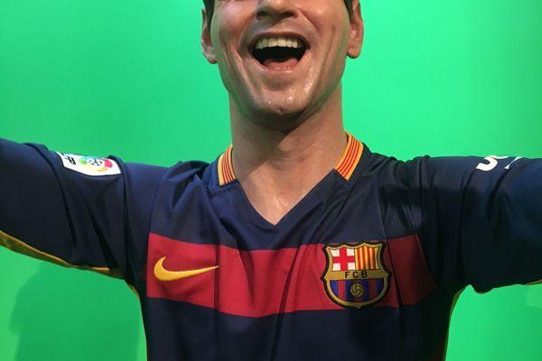La statue de cire de Lionel Messi, footballeur.
