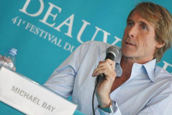 Le réalisateur Michael Bay lors de sa conférence de presse à Deauville ce vendredi après-midi