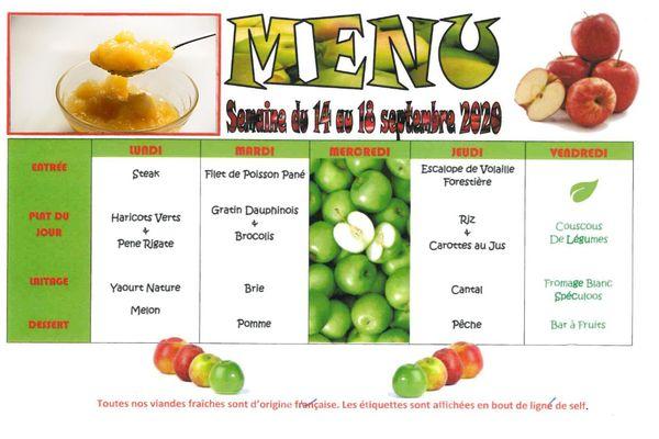 Les menus sont équilibrés sur 20 repas d'affilée, soit 4 semaines consécutives.