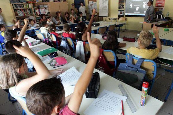 Une salle de classe illustration