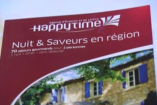 La société Happy Time proposait des coffrets cadeaux pour découvrir les régions françaises.