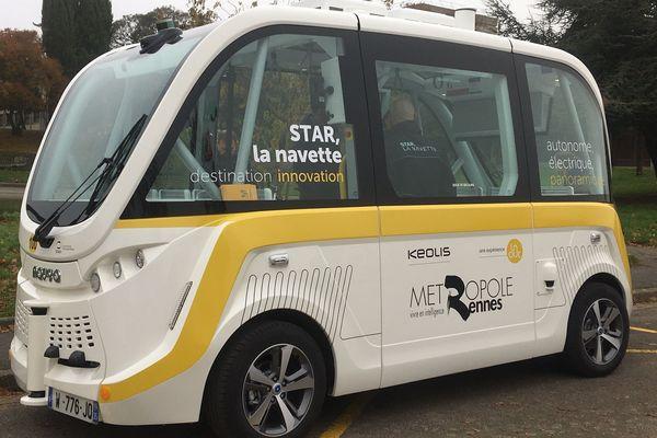 Navette autonome de la Star (ligne 100) à Rennes