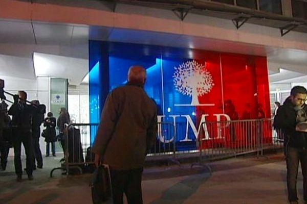 A la sortie du bureau politique de l'UMP