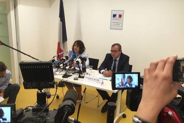 La conférence de presse donnée ce mardi avec la procureure de la République Yolande Renzi et Christophe Allain, le directeur régional de la police judiciaire du Grand Est.