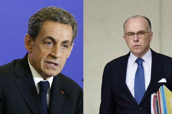 Nicolas Sarkozy et Bernard Cazeneuve
