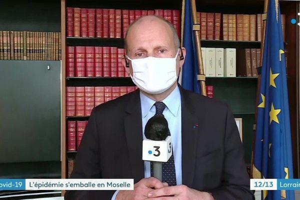 Le préfet de la Moselle Laurent Touvet dans le 12/13 de France Lorraine vendredi 05 février.