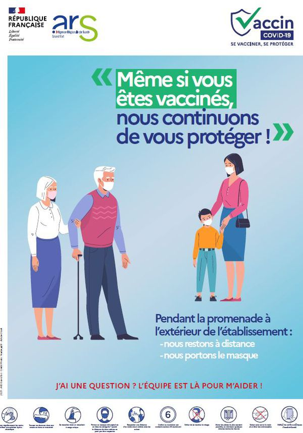 Une campagne pour encourager la continuité des gestes barrières malgré la vaccination