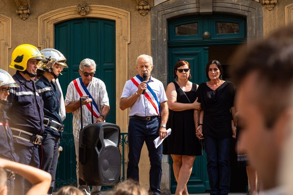 Hommage à Prescillia devant la mairie d'Estagel - 14 juillet 2019