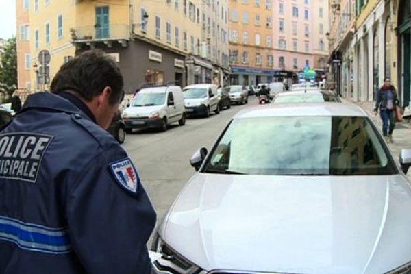 11.800 procès verbaux pour stationnement ont été dressés en 2014 à Bastia (Haute-Corse)