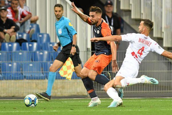 L'attaquant du Montpellier Hérault, Andy Delort, le 25 septembre 2019, contre le Nîmes Olympique.