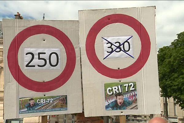 Les riverains de la LGV demandent notamment le passage des TGV de 330 km/h à 250 pour limiter les nuisances sonores