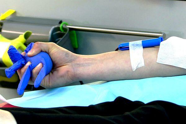 Une opération de don du sang, en Limousin.