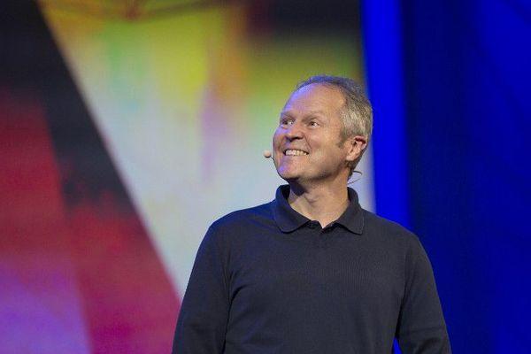 Yves Guillemot lors d'une conférence à Los Angeles en 2015
