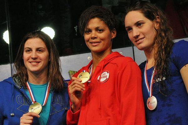 Podium du 400m nage libre