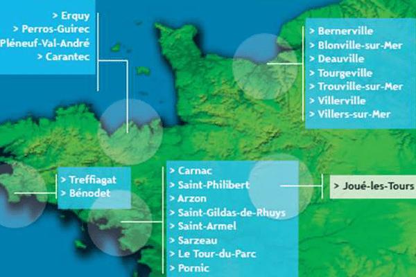 200 plages française ont reçu ce label qualité, tant pour la qualité de l'eua que le dispositif de sur