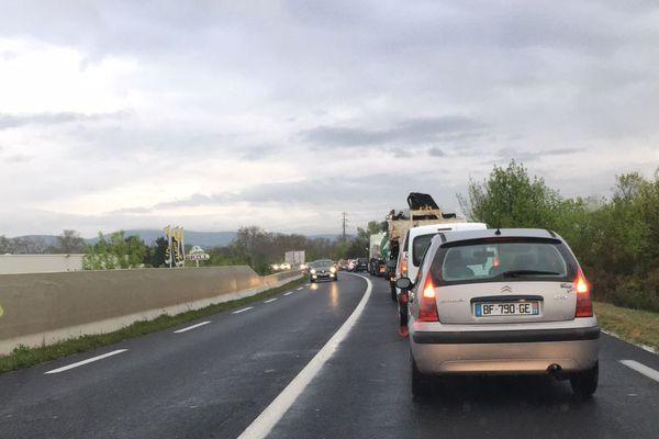 Embouteillage sur la RD 600 dans l'Hérault