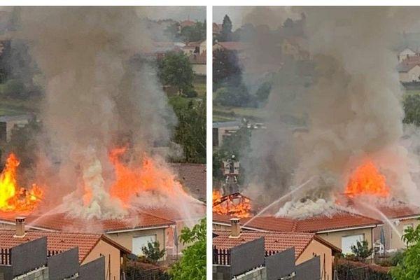 A Brassac-les-Mines, un incendie provoqué par la foudre s'est déclenché ce vendredi 12 juin aux alentours de midi.