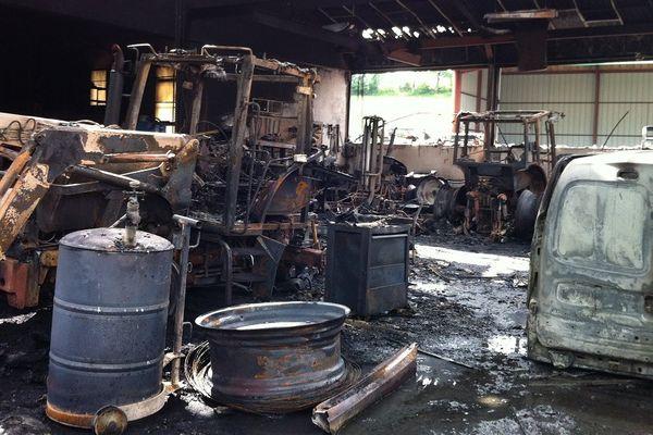 Le stock a été détruit par l'incendie