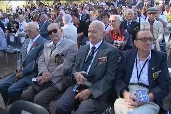 Les vétérans du débarquement aux premières loges lors de la cérémonie