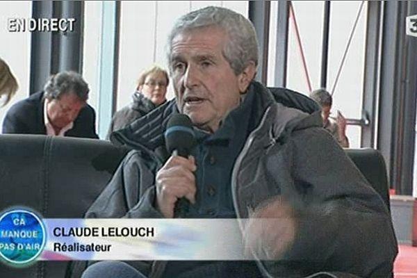 """Le réalisateur Claude Lelouch était l'invité de France 3 Bourgogne dans l'émission """"Ça manque pas d'air"""" jeudi 4 avril 2013."""