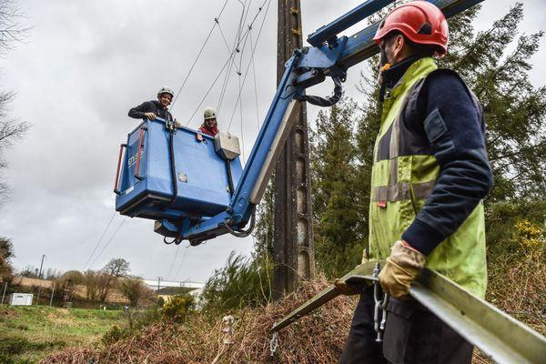 Enedis avait prémobilisé des techniciens des régions voisines à l'approche de la tempête