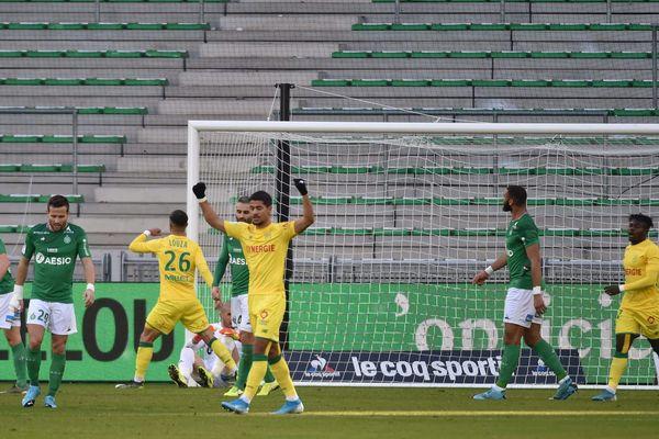 Le premier but du Nantais Mehdi Abeid face aux Verts