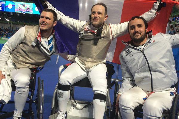 Médaille de bronze en escrime fauteuil pour l'Auvergnat Ludovic Lemoine et son équipe