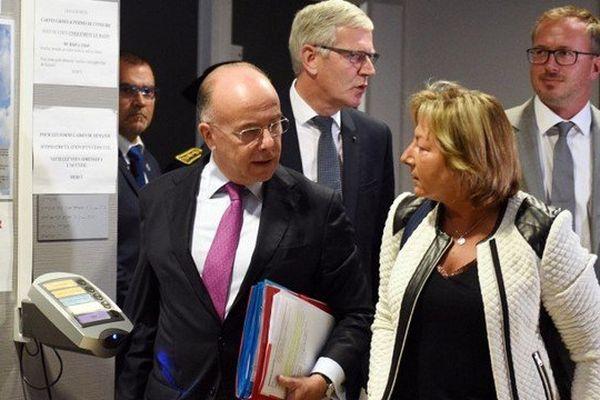 Le ministre de l'Intérieur à Calais ce vendredi avec la maire de la ville Natacha Bouchart