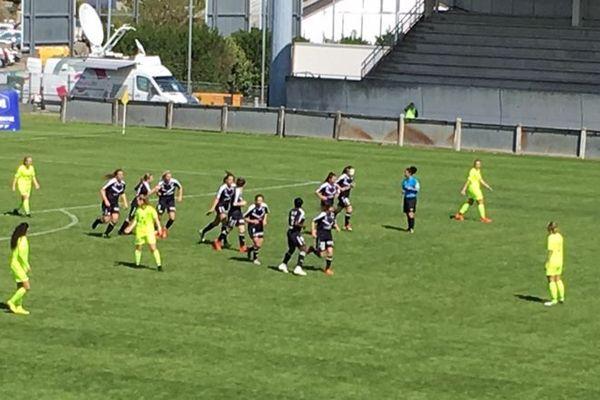 Les Girondines se sont imposées au Bouscat face à Lille ce 14 avril 2019.