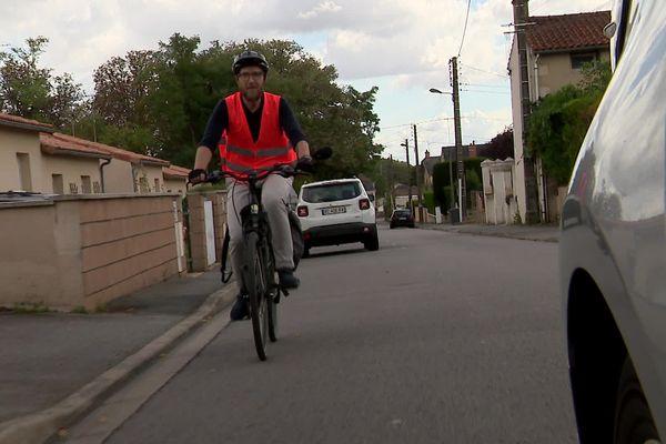 Benjamin Michot est membre de l'association Vélotaf.