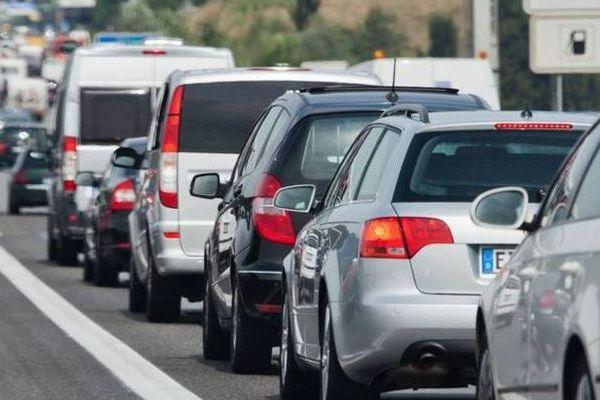 La circulation était très ralentie lundi matin à la sortie et à l'entrée d'Auch, sur la route d'Agen