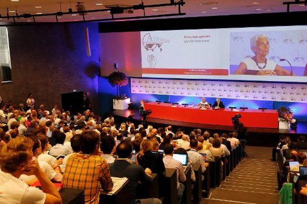 La présidente du FMI Christine Lagarde a participé aux rencontres économiques d'Aix en 2014.