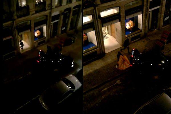 Des photos du cambriolage de la boutique Louis Vuitton dans le Vieux-Lille