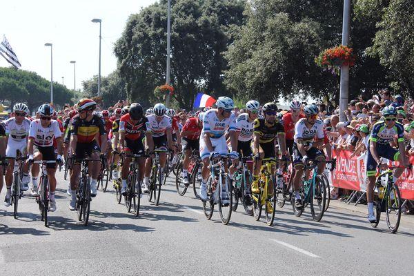 Le départ du Tour de France à Noirmoutier en Vendée, le 7 juillet 2018