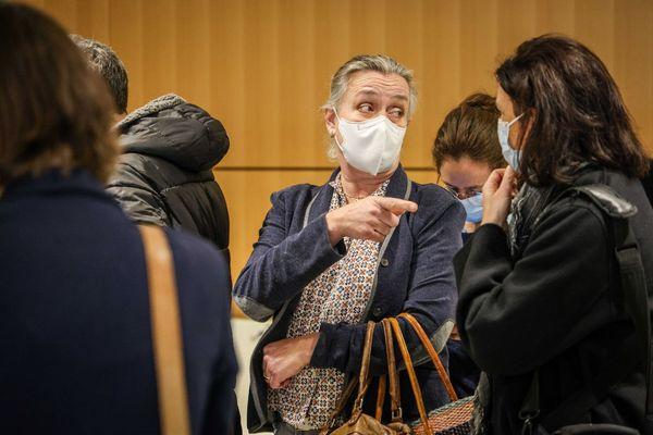 Irène Frachon, la pneumologue qui avait révélé le scandale, lors du rendu du procès du Mediator, le lundi 29 mars 2021.