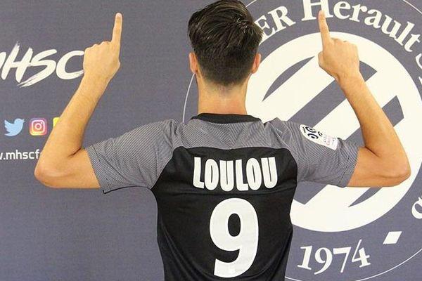 """Montpellier - contre Caen, en ouverture de championnat, tous les joueurs de Montpellier porteront un maillot """"LOULOU"""" - août 2017."""