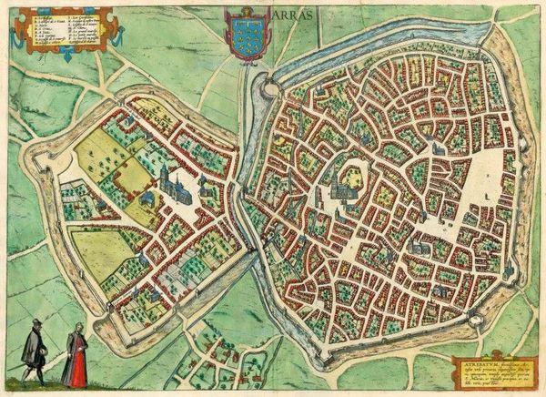 Une carte d'Arras en 1581, par Abraham Ortelius.