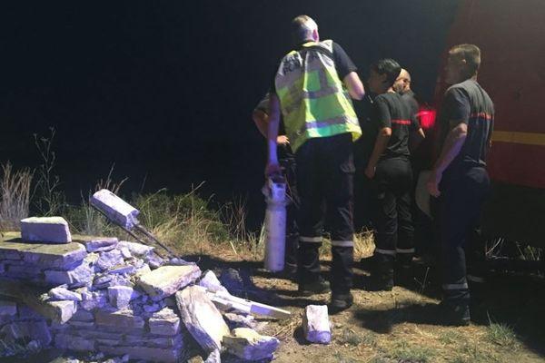 Les pompiers sont intervenus après la sortie de route d'un homme de soixante ans à Sagru.