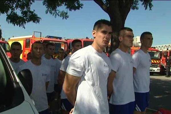 Des candidats au concours de Marins Pompiers