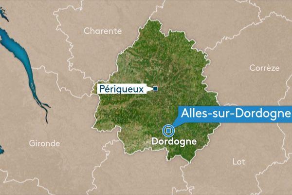 L'accident a eu lieu samedi, dans la commune d'Alles-sur-Dordogne.