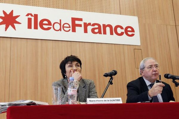 Marie-Pierre de la Gontrie (à gauche), se verrait bien Présidente de la région capitale à la place de Jean-Paul Huchon (à droite).