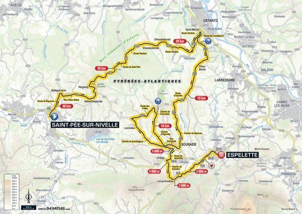La carte de la 20e étape du Tour 2018